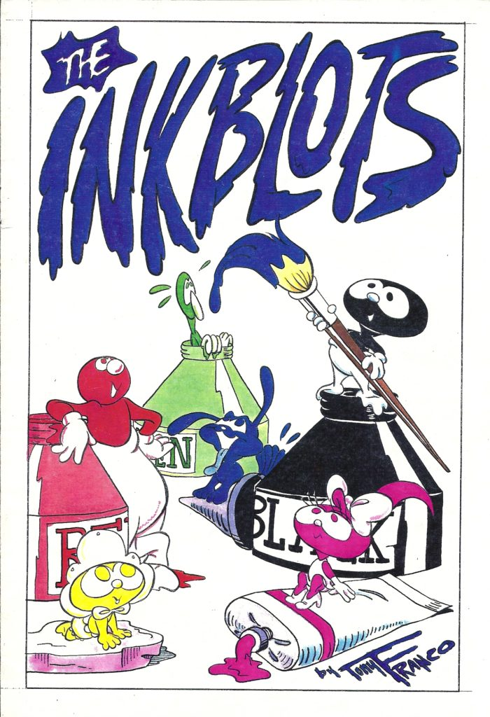 The Inkblots comic and characters merchandise by Tony Franco