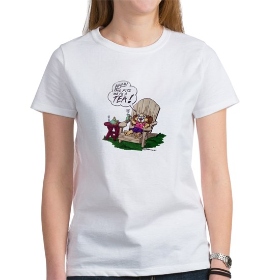 Snuggles Tea Tshirt Womans